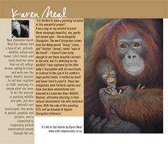 "Art book ""Love From Me"" to raise funds for cancer charity including Karen Neal's orangutan painting"