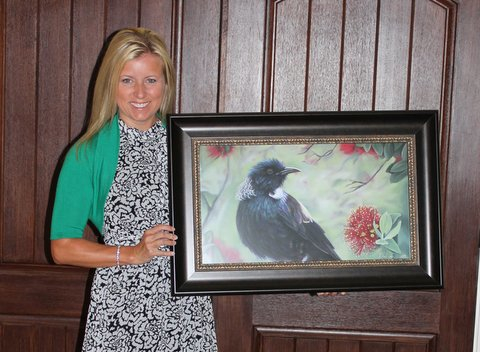 Tui bird print by New Zealand Wildlife Artist Karen Neal